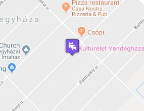 KultúrÉlet Vendégháza a térképen
