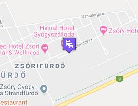 Zsóry Hotel Zen & Spa a térképen